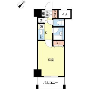 1K Mansion in Sarugakucho - Chiyoda-ku Floorplan