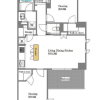 在世田谷区购买2LDK 公寓大厦的 楼层布局