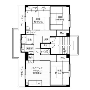 3DK Mansion in Oshima - Hiratsuka-shi Floorplan