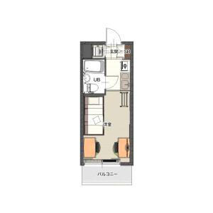 1R Mansion in Namamugi - Yokohama-shi Tsurumi-ku Floorplan
