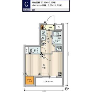 1K Mansion in Kanamecho - Toshima-ku Floorplan