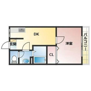 1DK Apartment in Seiiku - Osaka-shi Joto-ku Floorplan