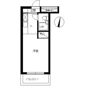 川崎市高津区下作延-1K公寓大厦 楼层布局
