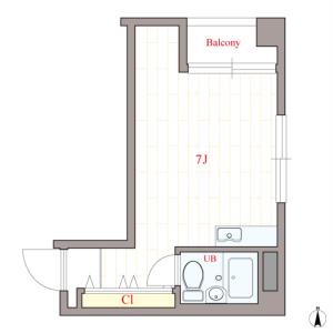 1R Mansion in Minamihorie - Osaka-shi Nishi-ku Floorplan
