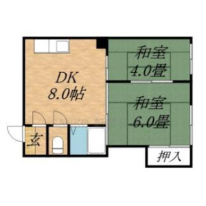札幌市東區北十九条東-(整棟)樓房{building type} 房間格局