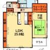 1SLDK Apartment to Rent in Chiba-shi Chuo-ku Floorplan