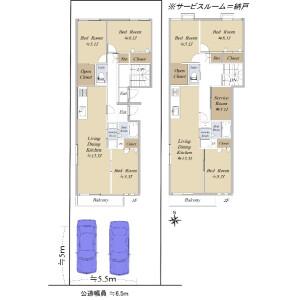 Whole Building {building type} in Arako - Nagoya-shi Nakagawa-ku Floorplan