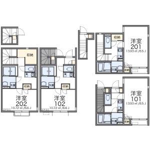 1K Apartment in Sakuragaoka - Setagaya-ku Floorplan