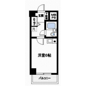 1K Mansion in Ohanajaya - Katsushika-ku Floorplan