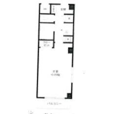 1K Mansion in Hommachi - Shibuya-ku Floorplan