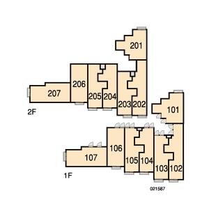 1K Apartment in Omaru - Inagi-shi Floorplan