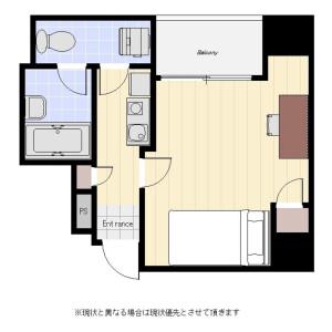 1R Mansion in Honshiocho - Shinjuku-ku Floorplan