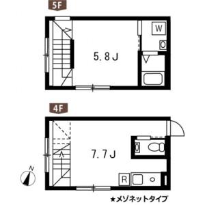 1DK Mansion in Koyama - Shinagawa-ku Floorplan