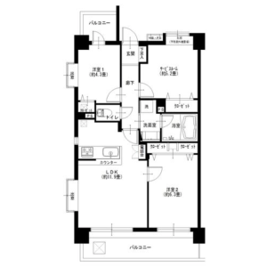 3LDK {building type} in Nishikicho - Tachikawa-shi Floorplan