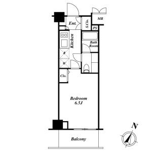 1K Mansion in Higashishinagawa - Shinagawa-ku Floorplan