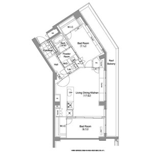 2LDK Mansion in Sarugakucho - Shibuya-ku Floorplan