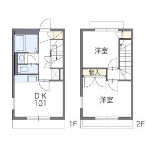2DK Apartment in Hanakoganei - Kodaira-shi Floorplan
