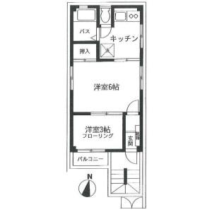 2K Apartment in Kitaotsuka - Toshima-ku Floorplan