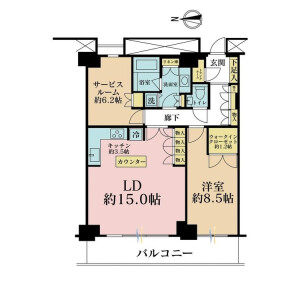 1LDK {building type} in Shinonome - Koto-ku Floorplan
