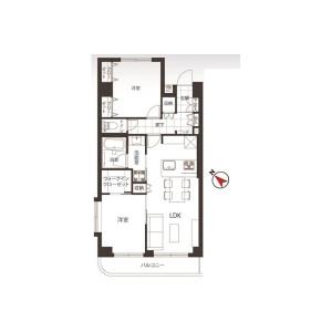 2LDK {building type} in Shinogawamachi - Shinjuku-ku Floorplan
