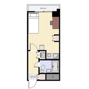 1R Mansion in Higashinakano - Nakano-ku Floorplan