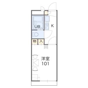 大阪市東淀川区 西淡路 1K アパート 間取り