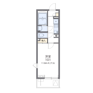 1K Mansion in Dotecho - Saitama-shi Omiya-ku Floorplan