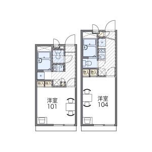 1K Apartment in Nagayoshinagaharahigashi - Osaka-shi Hirano-ku Floorplan