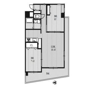 2LDK Mansion in Tachibana - Nagoya-shi Naka-ku Floorplan