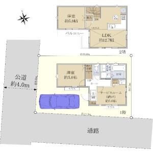 2SLDK {building type} in Takaidonishi - Suginami-ku Floorplan
