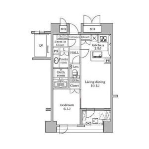 1LDK 맨션 in Daikanyamacho - Shibuya-ku Floorplan