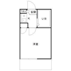 1K Apartment in Gotokuji - Setagaya-ku Floorplan