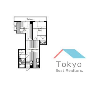 2DK Mansion in Kamitakada - Nakano-ku Floorplan