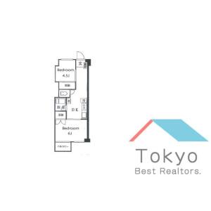 2DK Mansion in Umezato - Suginami-ku Floorplan