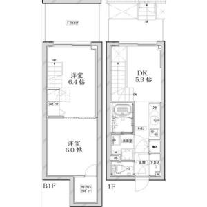 品川區東大井-2DK公寓大廈 房間格局