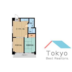 新宿區新宿-2DK公寓大廈 房間格局