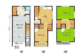 大阪市港区 市岡 3DK {building type}