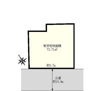 Land only {building type} in Asakusa - Taito-ku Floorplan
