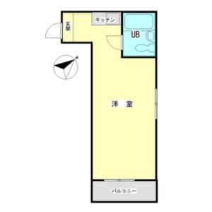 1R {building type} in Shimomeguro - Meguro-ku Floorplan