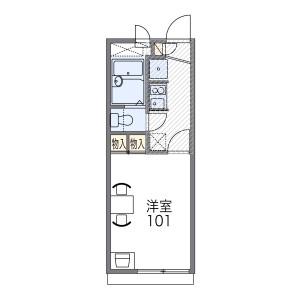 1K Apartment in Kuboyoshi - Osaka-shi Naniwa-ku Floorplan