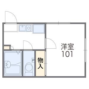 1K Apartment in Yuzato - Osaka-shi Higashisumiyoshi-ku Floorplan