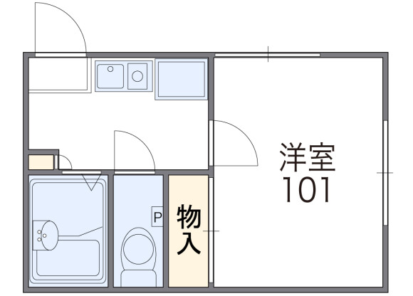 1K Apartment to Rent in Osaka-shi Higashisumiyoshi-ku Floorplan