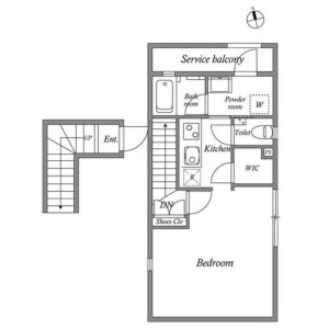 1K Mansion in Kamiosaki - Shinagawa-ku Floorplan