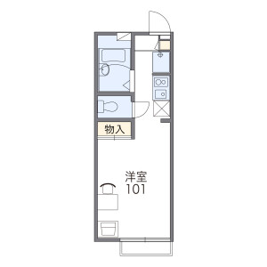 1K Apartment in Tauracho - Yokosuka-shi Floorplan