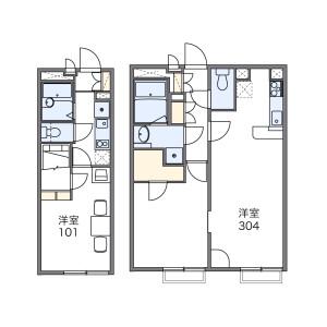 1LDK Mansion in Omorikita - Ota-ku Floorplan