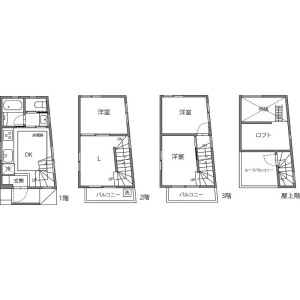 3LDK House in Kameido - Koto-ku Floorplan