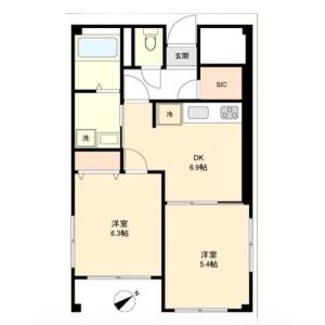 2DK {building type} in Kamiuma - Setagaya-ku Floorplan