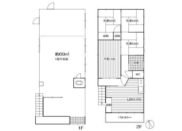 在板橋區內租賃4LDK 獨棟住宅 的房產 房間格局