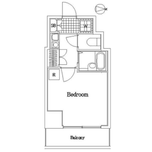1K Mansion in Hiratsuka - Shinagawa-ku Floorplan