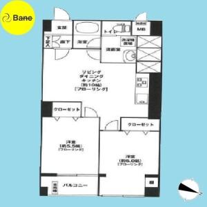 2LDK {building type} in Toyotamakami - Nerima-ku Floorplan
